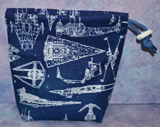 Star Wars Blueprint Cloth Drawstring Dice Bag