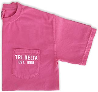 Delta Delta Delta est. 1888 Pocket Tee | Sorority Shirt