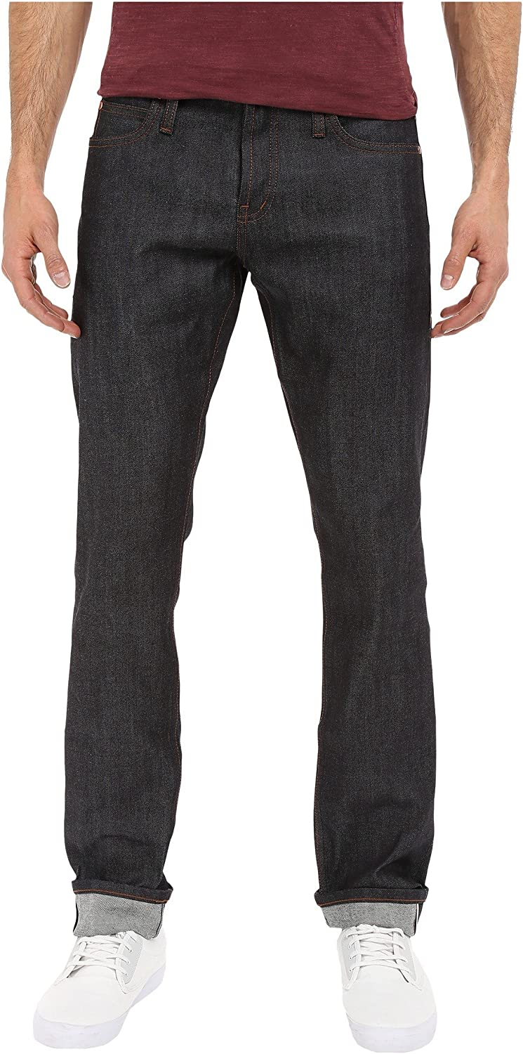 The Unbranded low-pricing Brand Men's UB122 Stretch Selvedge Skinny Indigo All stores are sold