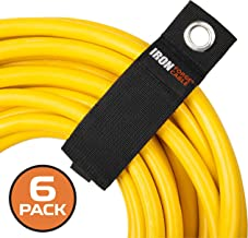 Extension Cord Wrap Organizer, 6 Pack of Storage Straps - XXL 20 Inch Hook and Loop Hanger Wraps for Power Cables, Hoses, Ropes, and More
