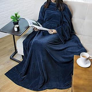 PAVILIA Premium Fleece Blanket with Sleeves for Adult, Women, Men | Warm, Cozy, Extra Soft, Microplush, Functional, Lightw...
