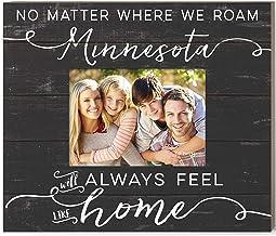 Kindred Hearts Weathered Slat Feels Like Home Minnesota Photo Frame, Multicolor