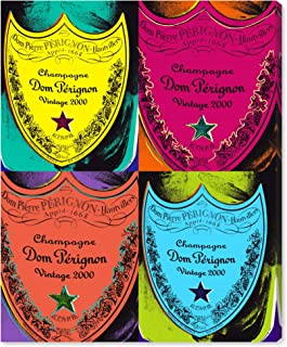 The Oliver Gal Artist Co. Drinks and Spirits Wall Art Canvas Prints 'Warholesque Dom P' Home Décor 36
