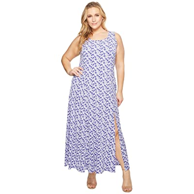 MICHAEL Michael Kors Plus Size Carnation Slit Maxi Dress (Amethyst/Light Quartz Multi) Women