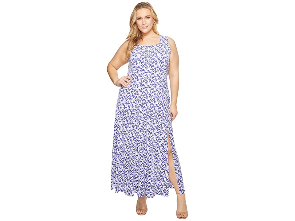 MICHAEL Michael Kors Plus Size Carnation Slit Maxi Dress (Amethyst/Light Quartz Multi) Women