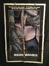 Road Games 1981 Original Vintage One Sheet Movie Poster, Horror, Jamie Lee Curtis, Stacy Keach