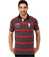 U.S. POLO ASSN. - Black Mallet Striped Pique Polo