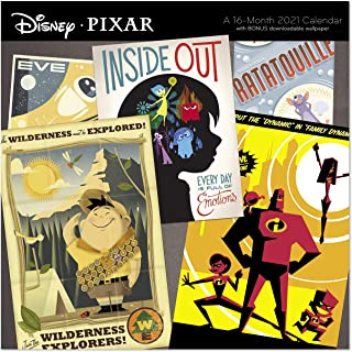 "Day Dream Calendars 2021 Disney PIXAR Wall Calendar, 12"" x 12"", Monthly (DDW0382821)"