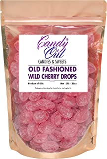 Wild Cherry Drops 2 Pounds Old Fashioned Hard Candy in CandyOut Sealed Stand Up Bag