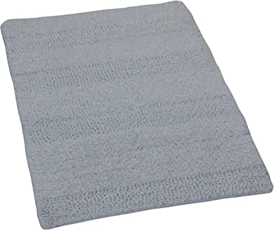 Castle Hill Wide Cut Reversible Bath Rug, 17 by 24-Inch, White