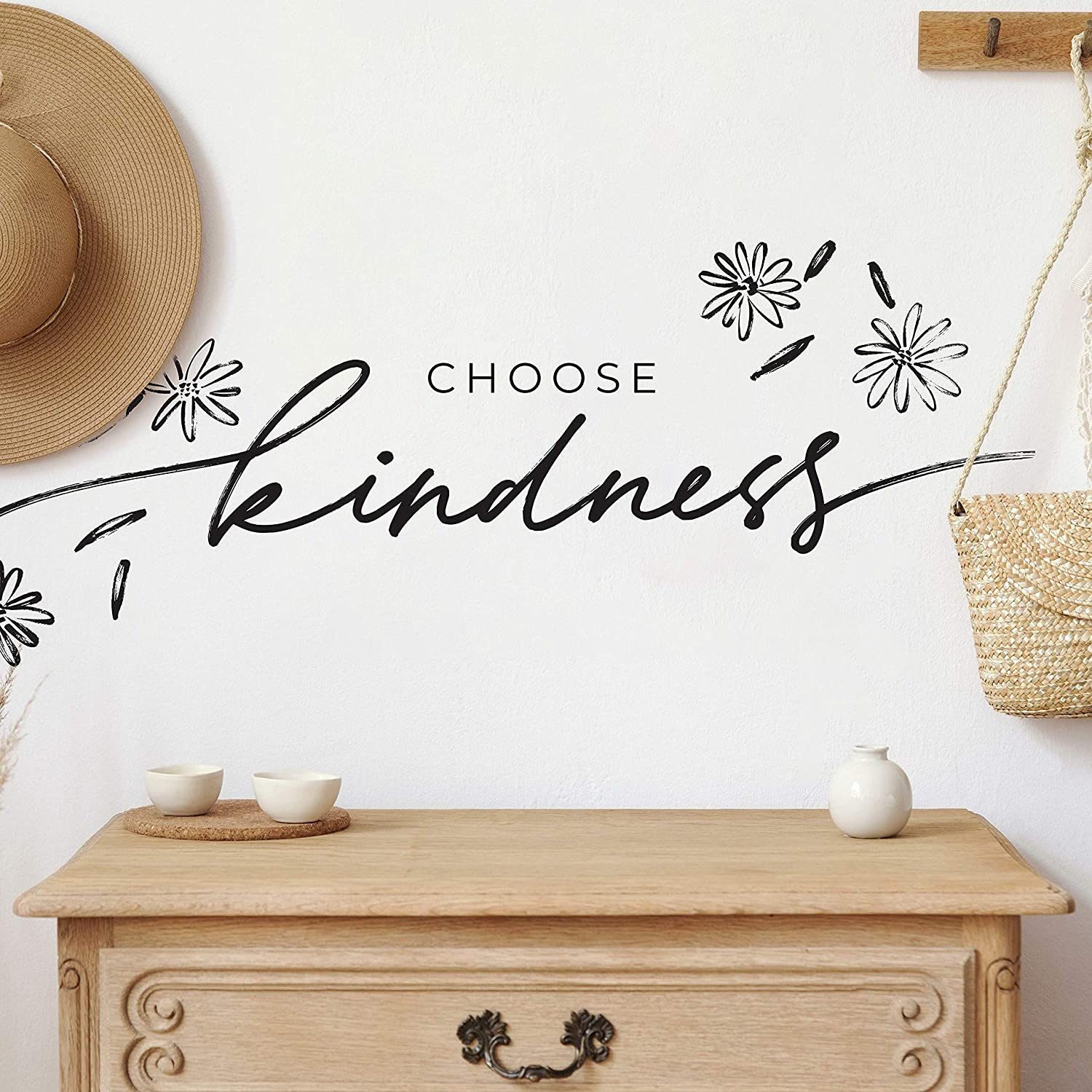 RoomMates Choose Kindness Peel And Stick Wall Decals, Inspirational Wall Quote