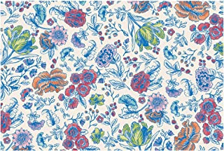 Hester and Cook Disposable Paper Placemats - China Blue Floral 24 Sheets - American Made