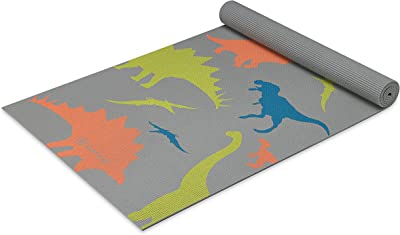 (Dino Zone) - Gaiam Kids Yoga Mat Exercise Mat, Yoga for Kids with Fun Prints - Playtime for Babies, Active & Calm Toddlers and Young Children