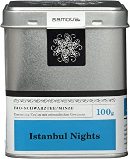 Samova Istanbul Nights - Bio-Schwarztee/Minze 100g, 1er Pack 1 x 100 g