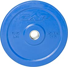 "CAP Barbell OPR3-010 Olympic 2"" Rubber Bumper Plate, Single"