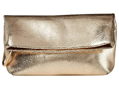 Vince Camuto Simi Clutch (Warm Gold) Handbags
