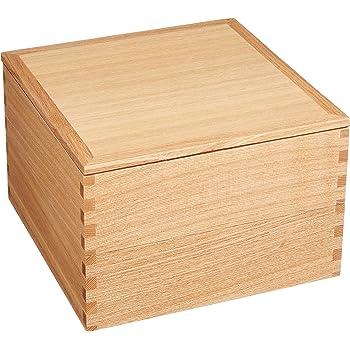 松屋漆器店 白木塗タモ製6.0寸二段重内朱