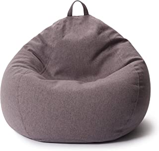 Lumaland Comfort Line XXL zitzak Indoor - 100x120x50 cm - vloerkussen, Bean Bag Chair - 315 L - EPS parels vulling - donke...