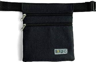 Riñonera artesana de tela tejana negra, bolso de cadera, bolso bandolera lateral