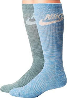 Nike - Sportswear Blue Label Advance Graphic 2-Pair Pack Crew Socks