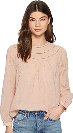 Lucky Brand - Row Neck Peasant Top