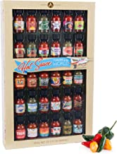 Thoughtfully Gifts, Hot Sauce Flavors of the World: 30 Pack Hot Sauce Sampler Set, Inspired by International Hot Sauce Flavors of the World, 30 sample bottles of hot sauce, 0.7 oz each