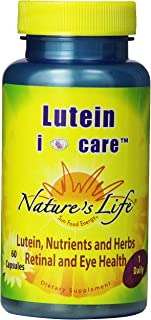 Nature's Life Lutein I Care Capsules, 60 Count