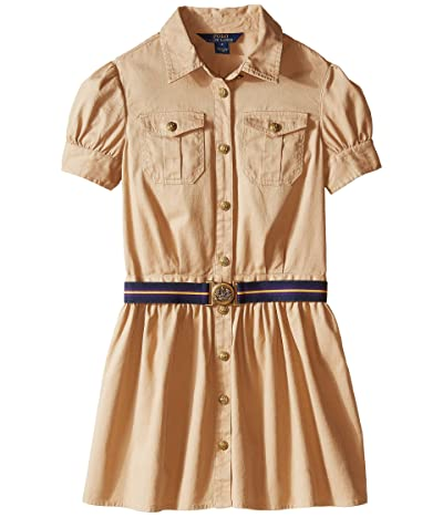 Polo Ralph Lauren Kids Tissue Chino Shirtdress (Big Kids) (Khaki) Girl