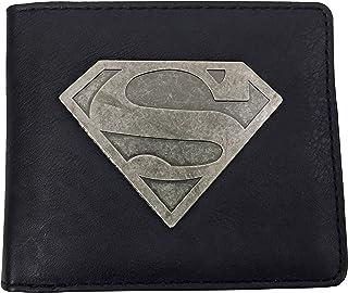 Superman DC Comics Hommes Portefeuille en cuir synthétique marron pièces cartes billets Photo