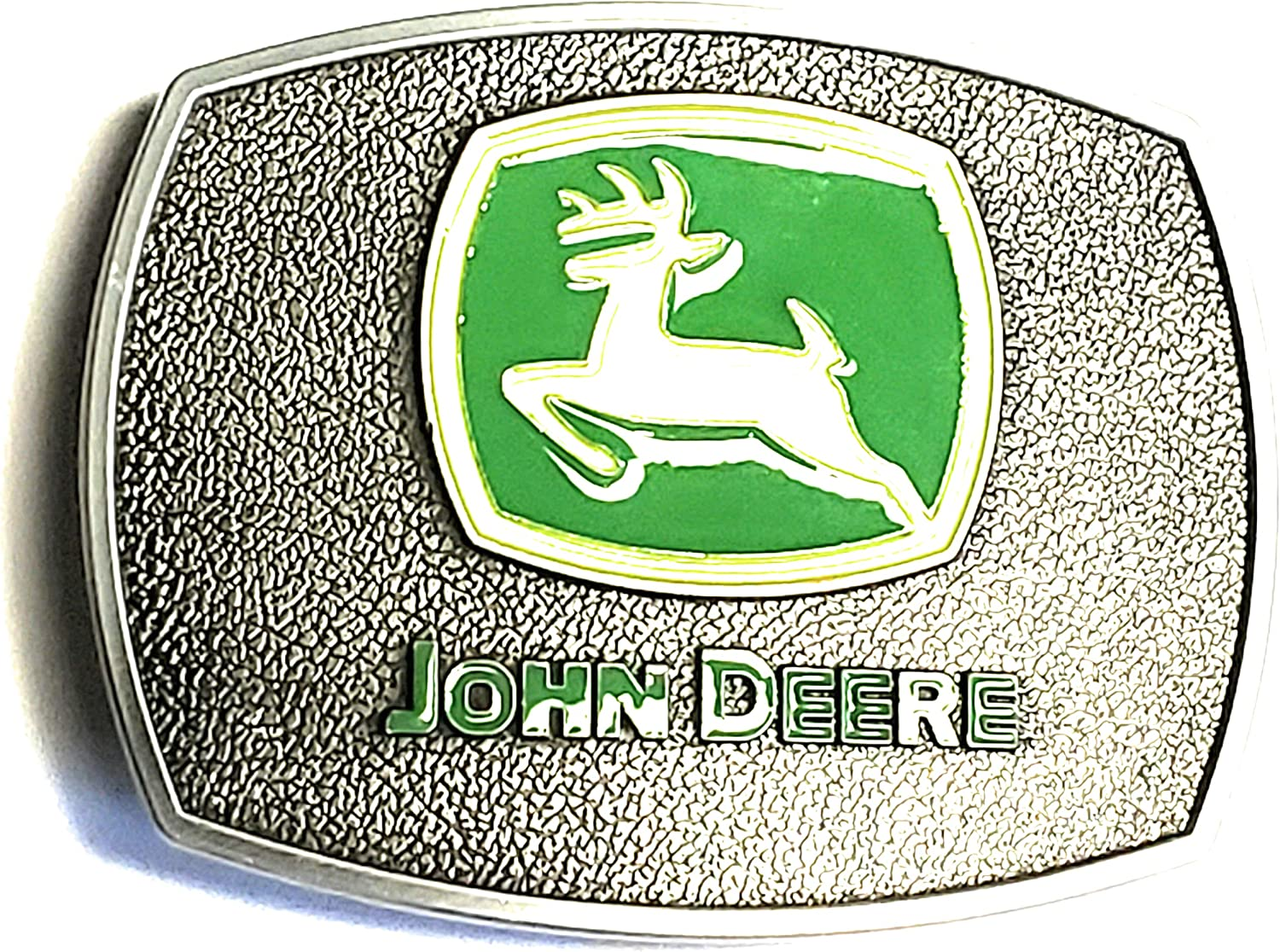 GREEN AND Ranking OFFicial shop TOP1 SILVER JOHN TRACTOR BUCKLE DEERE BELT
