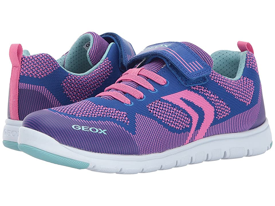 Geox Kids JR Xunday Girl 1 (Big Kid) (Bluette/Fuchsia) Girl