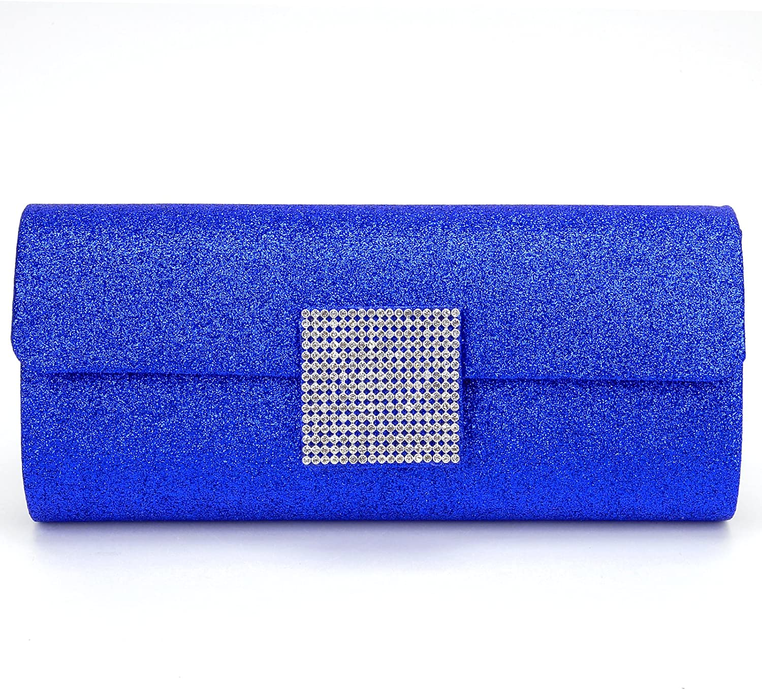 Dazzling Glitter Bling Shiny Evening Party Clutch Bag Purse 3 Colours