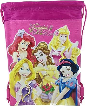 fe13944be8db Disney Princess Drawstring String Backpack School Sport Gym Tote Bag - Dark  Pink