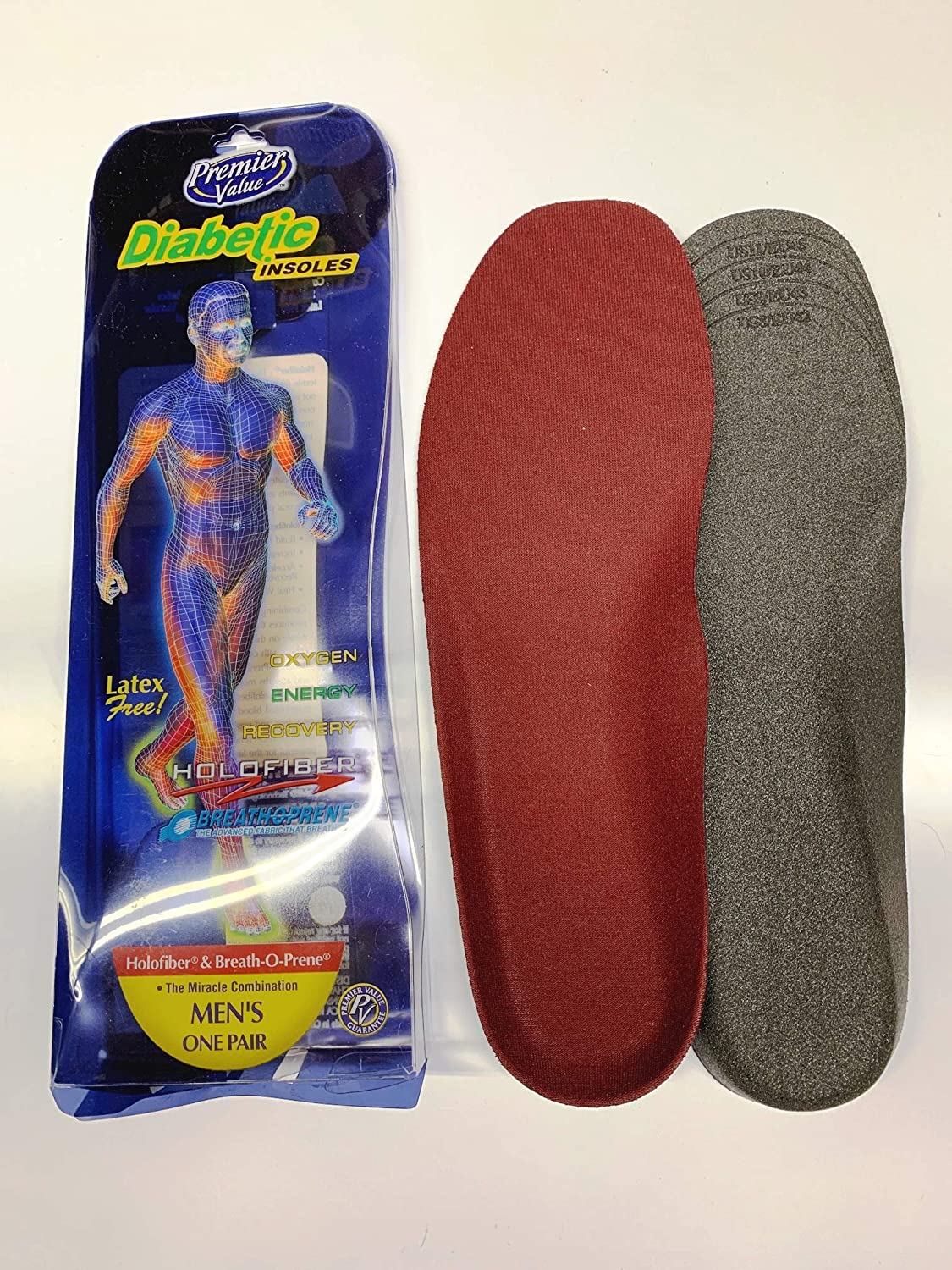 Tulsa Mall Diabetic Insoles with Holofiber for OFFicial site Blood Increasing Men's Flow