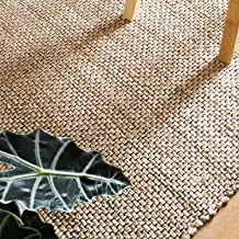 Jute Area Rug - Chunky Handwoven Pattern, Natural, Durable & Less Scratchy (4 x 6 Foot, Natural)