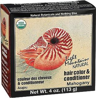 LIGHT MOUNTAIN Natural Hair Color 3 Piece - Mahogany, 12 Ounce