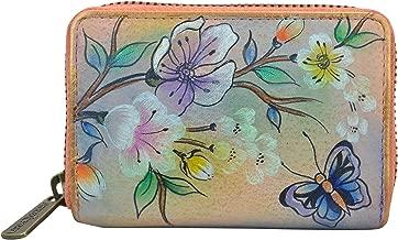 Anuschka Credit Card, Business Card Holder   Genuine Leather, Hand-painted Original Artwork