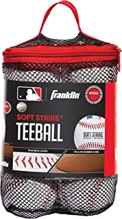 Franklin Sports Soft-Strike Teeball - Official Size and Weight Approved for Teeball - Hollow Core Technology for Safety - ...