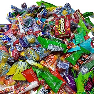 Ultimate Candy Party College Care Package Assortment of Hi ChewRegular, Tropical, Sours Mix Blow Pops Smarties Sugar Daddy/Baby Trolli Sour Brite Lemonhead Jaw Busters Now & Later