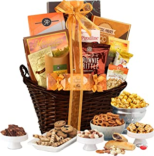 Gourmet Gift Basket Of Chocolates Cookies And Snacks Food Baskets The Perfect