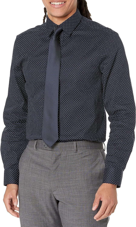 Nick Graham Men's Printed Pindot Shirt/Tie Set