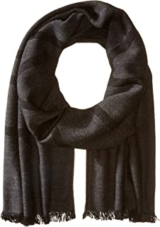 Men's Fringed Logo Scarf