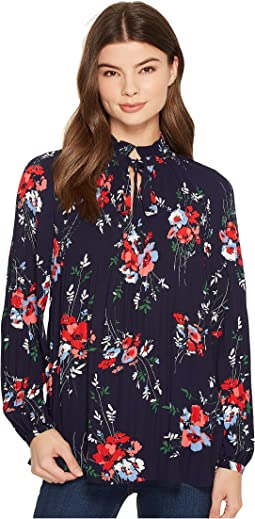 LAUREN Ralph Lauren - Floral Pleated Georgette Top