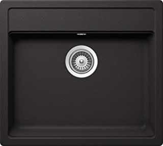 SCHOCK Küchenspüle 49 x 51 cm Nemo N-100S Nero - CRISTALITE schwarze Granitspüle ab 50 cm Unterschrank-Breite