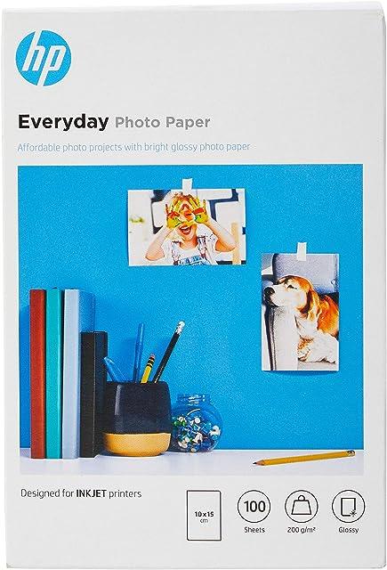 HP CR757A - Papel fotográfico brillante (100 hojas 10 x 15 cm)
