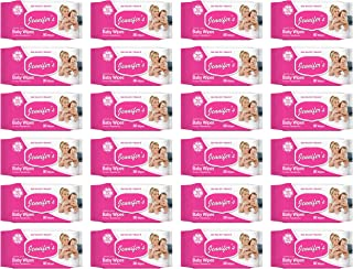 Jennifer's Baby Wipes 80 Pieces Per Pack, Pack of 24