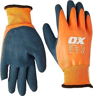 OX OX-S483909 Thermal Latex Work Gloves – Waterproof Safety Gloves – Freezer Gloves – Gardening Gloves – Orange/Blue, Size...