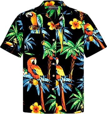 Camisa Hawaiana | Hombre | Señores | 100% Algodón | Talla S - 8XL | Manga Corta | Muchos Colores | Animales | Loros | Tortugas | Tropical | Aloha | ...