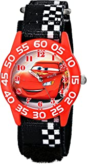 Disney Kids'  W001679 Cars Plastic Watch, Black Checkered...
