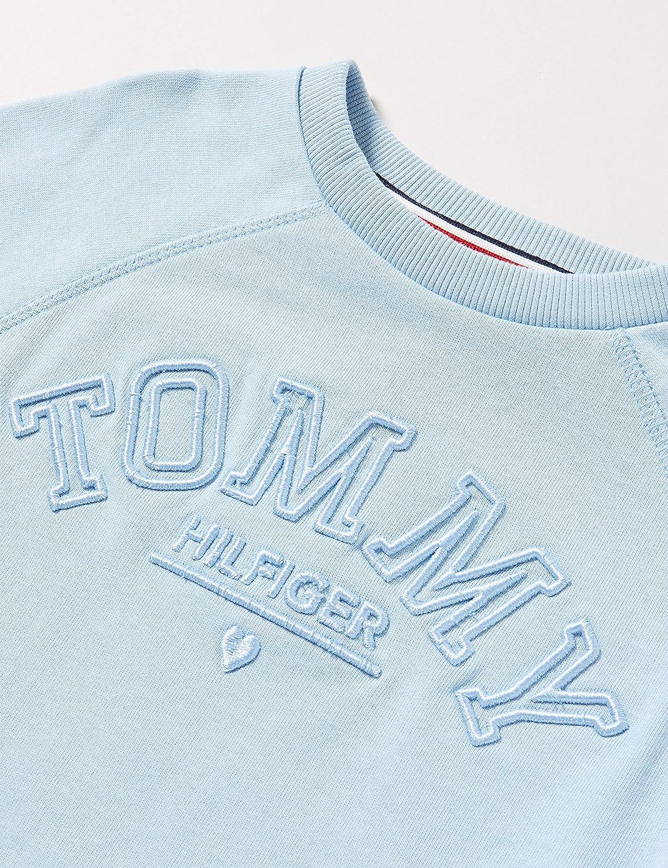 Tommy Hilfiger Tonal Embroidered Graphic Crew Sudadera para Ni/ñas